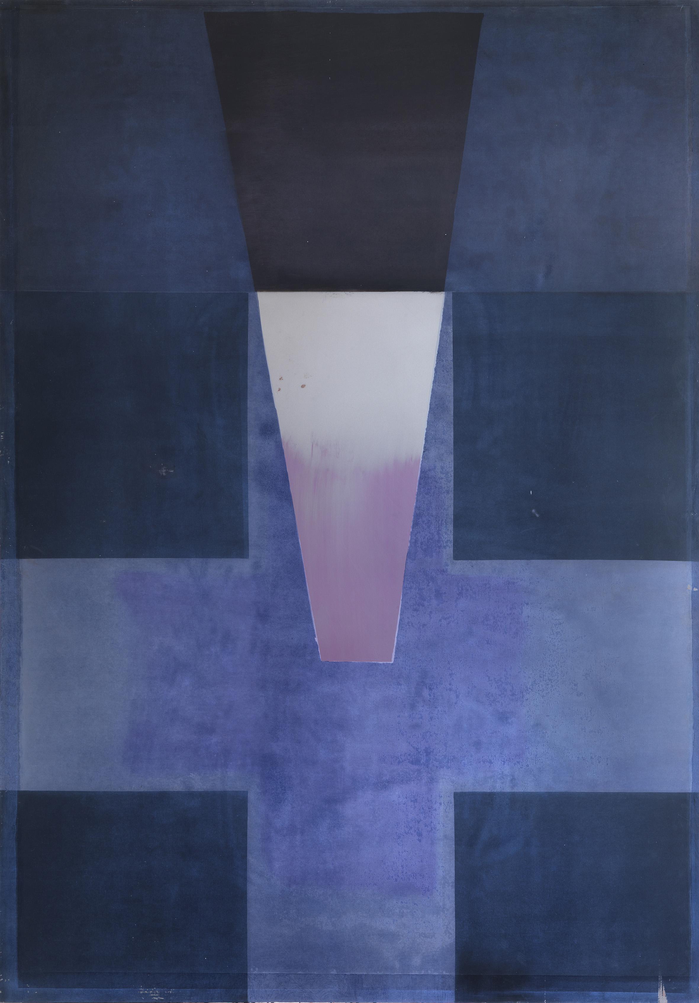 Roberto Ciaccio, Grande croce di ferro blu e rosa, 2010 - Collezione privata, Lugano