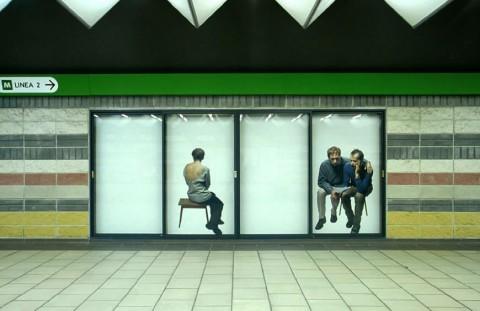 Roberto Marossi, Senza titolo, 1998 - Subway, Milano - photo Antonio Maniscalco
