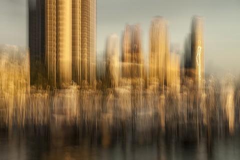 Roberto Polillo, Skyscrapers, Miami, 2015, fotografia digitale, cm 225 x 150 (in cornice cm 233 x 158), Edizione 1-10 + 2 PA, Courtesy Roberto Polillo
