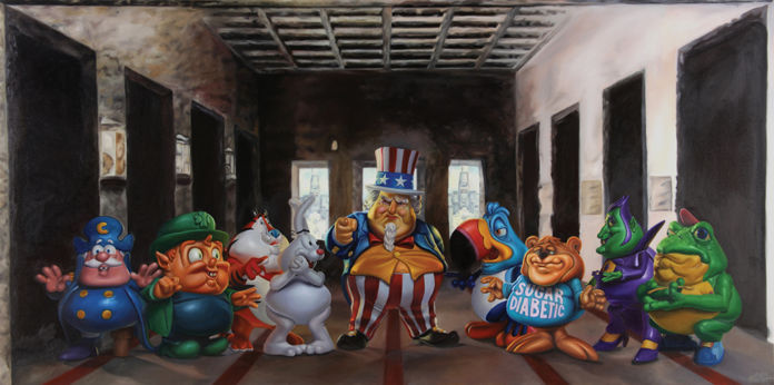 Ron English, Uncle scam's last breakfast - courtesy Dorothy Circus Gallery, Roma