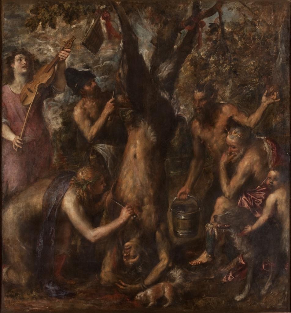 Tiziano Vecellio, Supplizio di Marsia, 1570 ca.