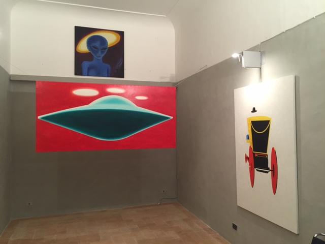 Tommaso Lisanti – E.T. - installation view at Idill'io Arte Contemporanea, Recanati 2016