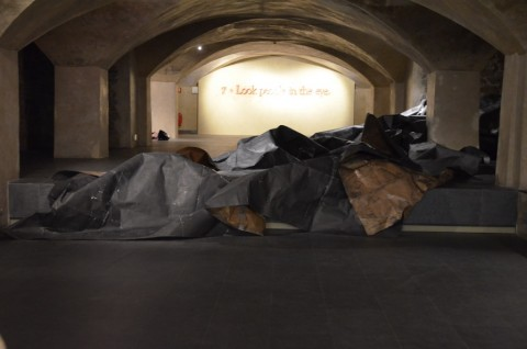 Tony Lewis – Alms Comity and Plunder - installation view at Museo Marino Marini, Firenza 2016