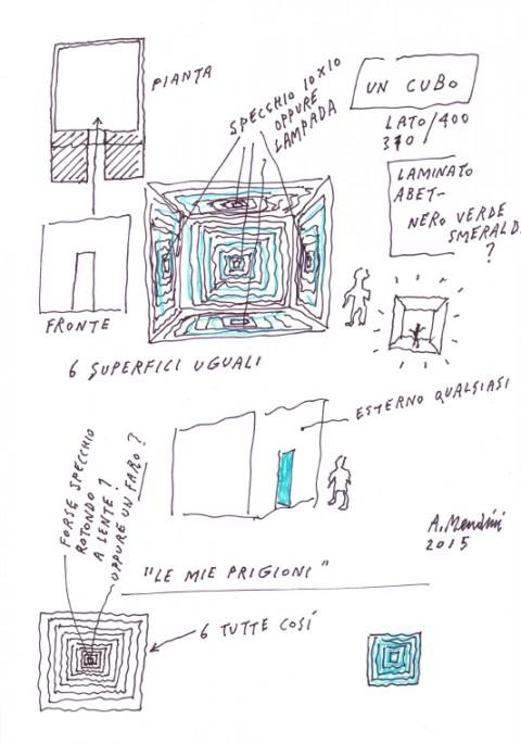XXI Esposizione Internazionale della Triennale di Milano - Stanze. Altre filosofie dell'abitare - Uno schizzo di Alessandro Mendini