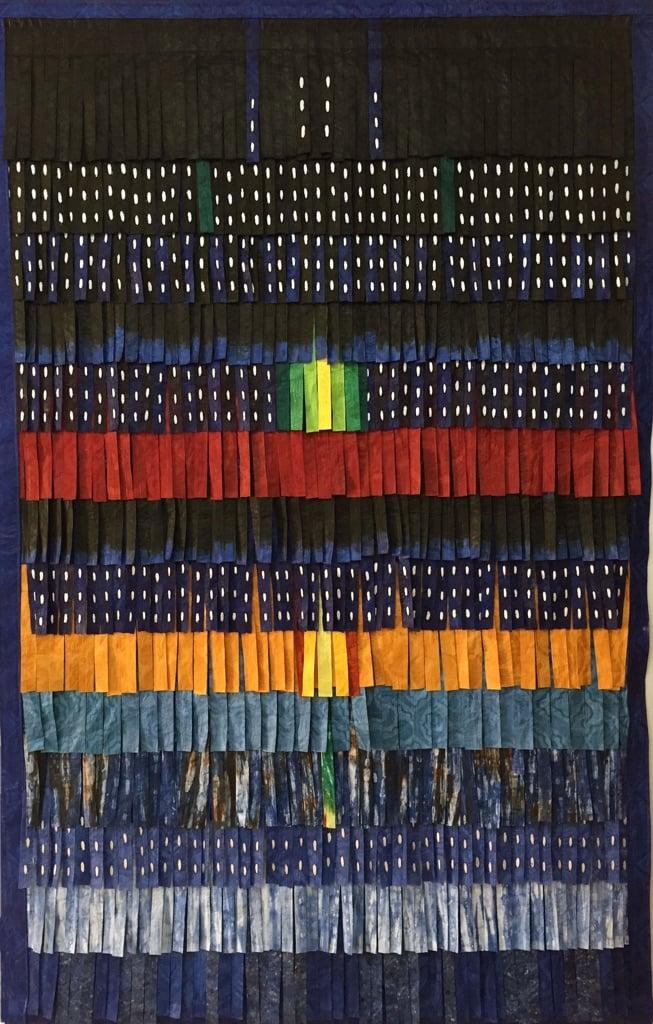 Abdoulaye Konatè, Plumages (bleu-vert), 2015 - courtesy Primo Marella Gallery