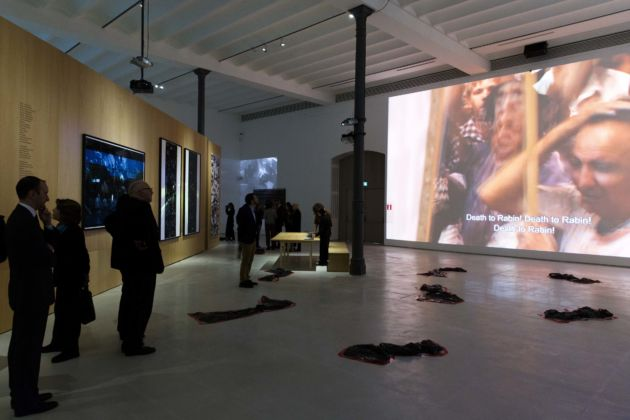 Amos Gitai – Chronicle of an Assassination Foretold - installation view at MAXXI, Roma 2016