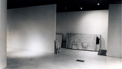 Baldo Diodato - One man show – installation view at Alessandra Gallery, New York 1976
