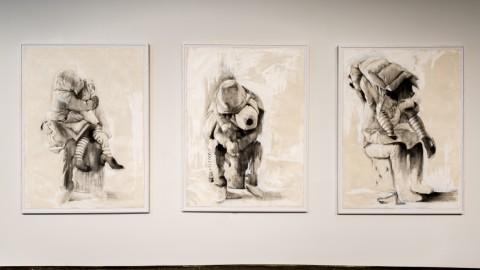 Beatrice Scaccia – Call the bluff - installation view at Cara Gallery, New York 2016 - photo Federico Possati