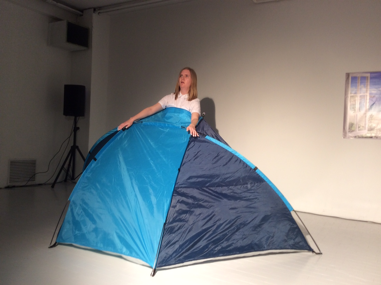 Bridget Moser, Sympathetic Parts - performance alla Galleria Artericambi, Verona 2016