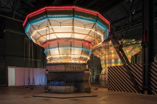 Carsten Höller – Doubt - installation view at Pirelli HangarBicocca, Milano 2016 - courtesy of the artist and Pirelli HangarBicocca, Milano photo © Attilio Maranzano