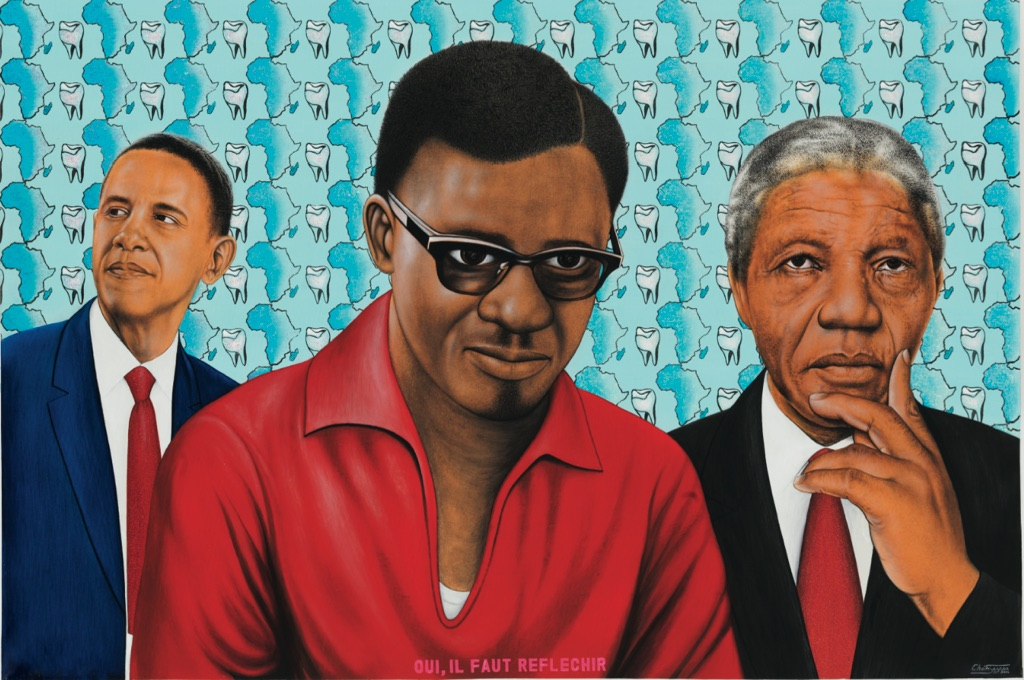 Chéri Samba, Oui, il faut réfléchir, 2014 – courtesy Magnin-A