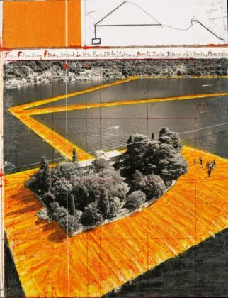 Christo, Floating Piers (Project for Lake Iseo, Italy) - photo André Grossmann - (c) Christo 2015