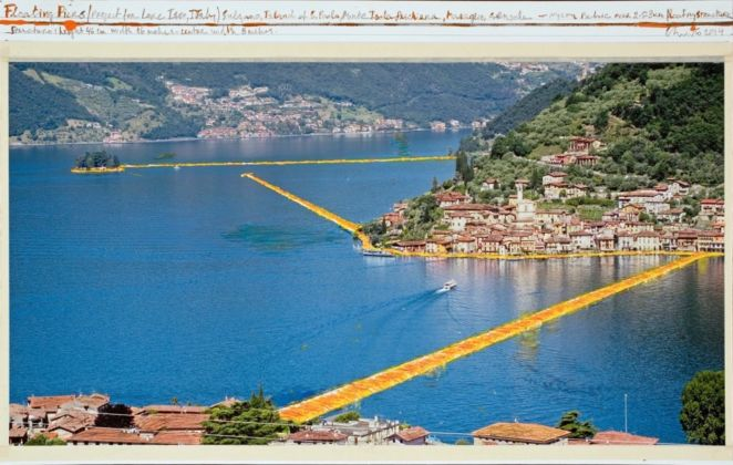 Christo, The Floating Piers, Project for Lake Iseo, Italy, 2014
