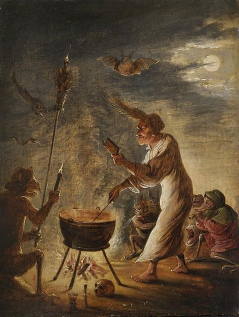 David Teniers II (attr.), Hekserijscène, 1635 ca.