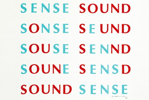Emmett Williams, Sense Sound _Sound Sense (1955), 1989 - Published by Francesco Conz, Verona