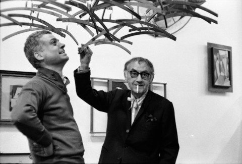 Enrico Cattaneo, Man Ray e Ugo Mulas, Studio Marconi, Milano 1969