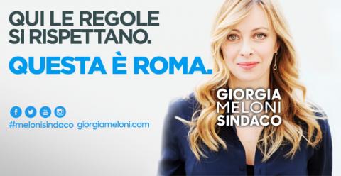 Giorgia Meloni, manifesto amministrative 2016