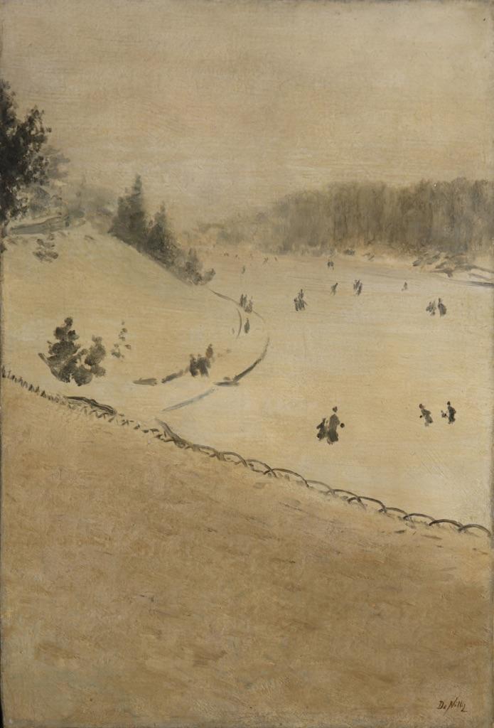 Giuseppe De Nittis, Campo di neve, 1880 ca. - coll. privata