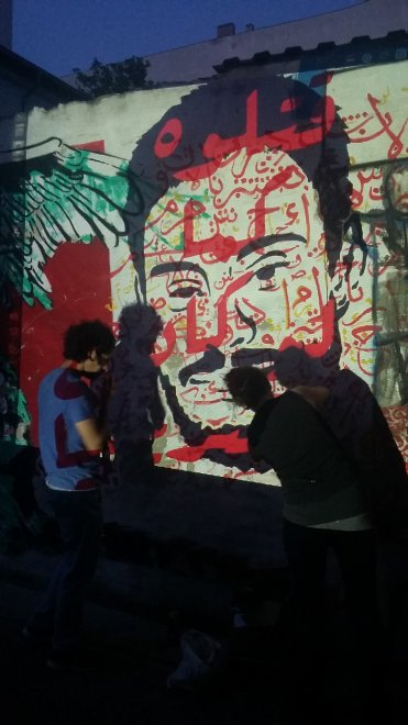 Il Murale Di El Teneen Per Giulio Regeni A Berlino Artribune