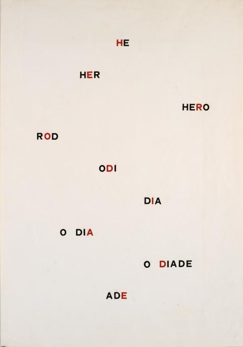 Mario Diacono, La plus belle page de Mallarmé, 1977 - Mart, Archivio di Nuova Scrittura, Collezione Paolo Della Grazia