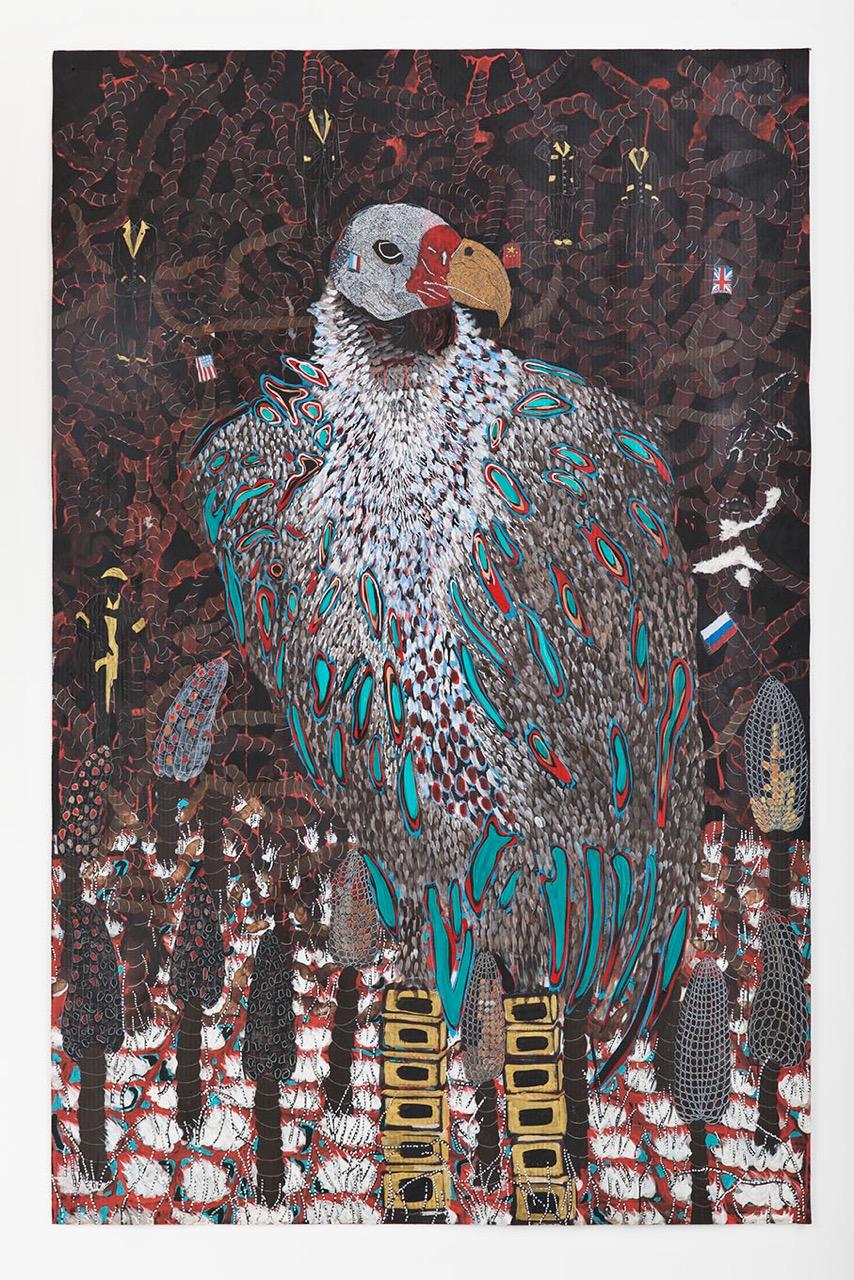 Omar Ba, Afrique, Afrique, Afrique, 2015 - courtesy Galleria Giuseppe Pero
