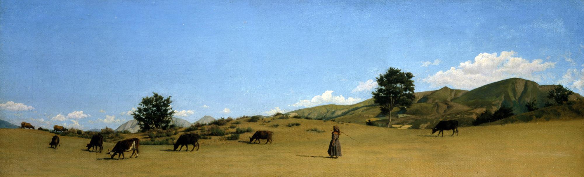 Raffaello Sernesi, Pastura in montagna, 1861 - coll. privata