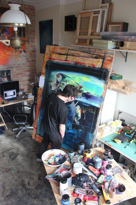 Robert Proch nel suo studio – photo Magda Proch