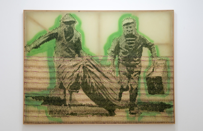 Sigmar Polke, Flüchtende, 1992, Carré d'Art-Musée d'Art Contemporain, Nîmes, Photo © David Hugenin © The Estate of Sigmar Polke by SIAE 2016