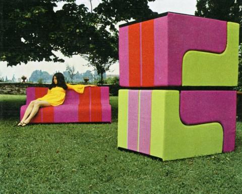 Sofo, Poltronova, 1968, seduta componibile (foto C. Toraldo di Francia)