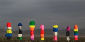 Ugo Rondinone, Seven Magic Mountains, Las Vegas, Nevada, 2016 - Photo by Gianfranco Gorgoni. Courtesy of Art Production Fund and Nevada Museum of Art