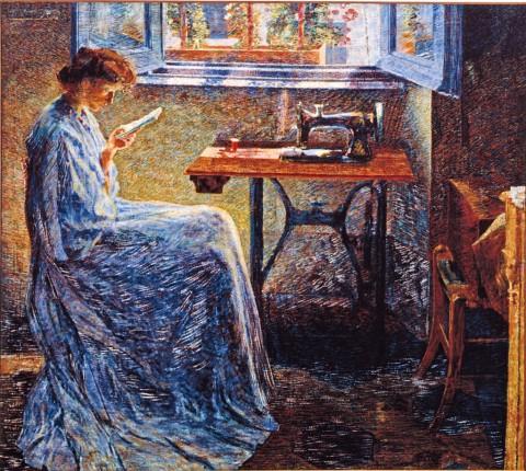Umberto Boccioni, Romanzo di una cucitrice, 1908 - Parma, Collezioni Barilla di Arte Moderna