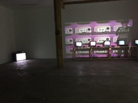 Wynne Greenwood, tracy + the plastics - installation view at Fanta Spazio, Milano 2016