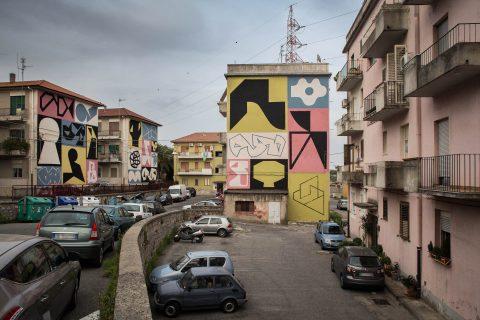 Erosie, Linguaggio Universale, Via Garibaldi Gariani. Quartiere Piano Casa, Catanzaro; photo by Angelo Jaroszuk Bogasz