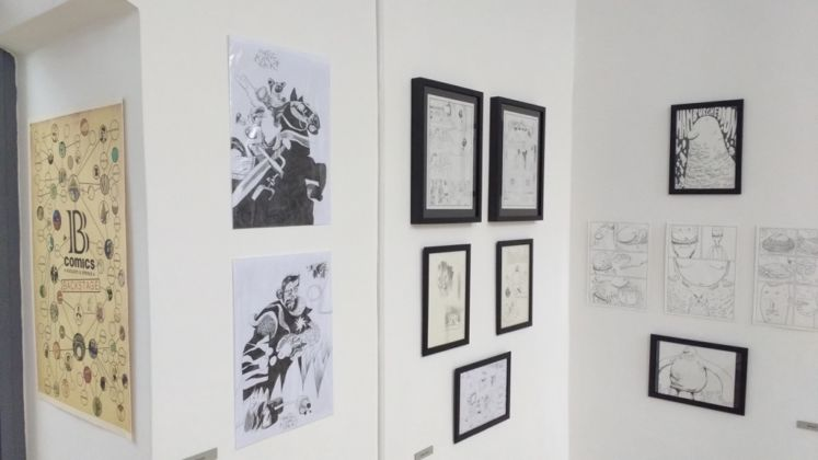 B comics • Backstage - installation view at Studio Pilar, Roma 2016