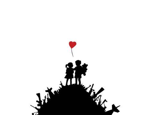 Banksy, Kids on guns, 2003