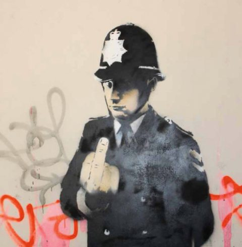Banksy, Rude Copper, 2002