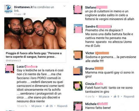 Commenti omofobi ai fatti di Orlando
