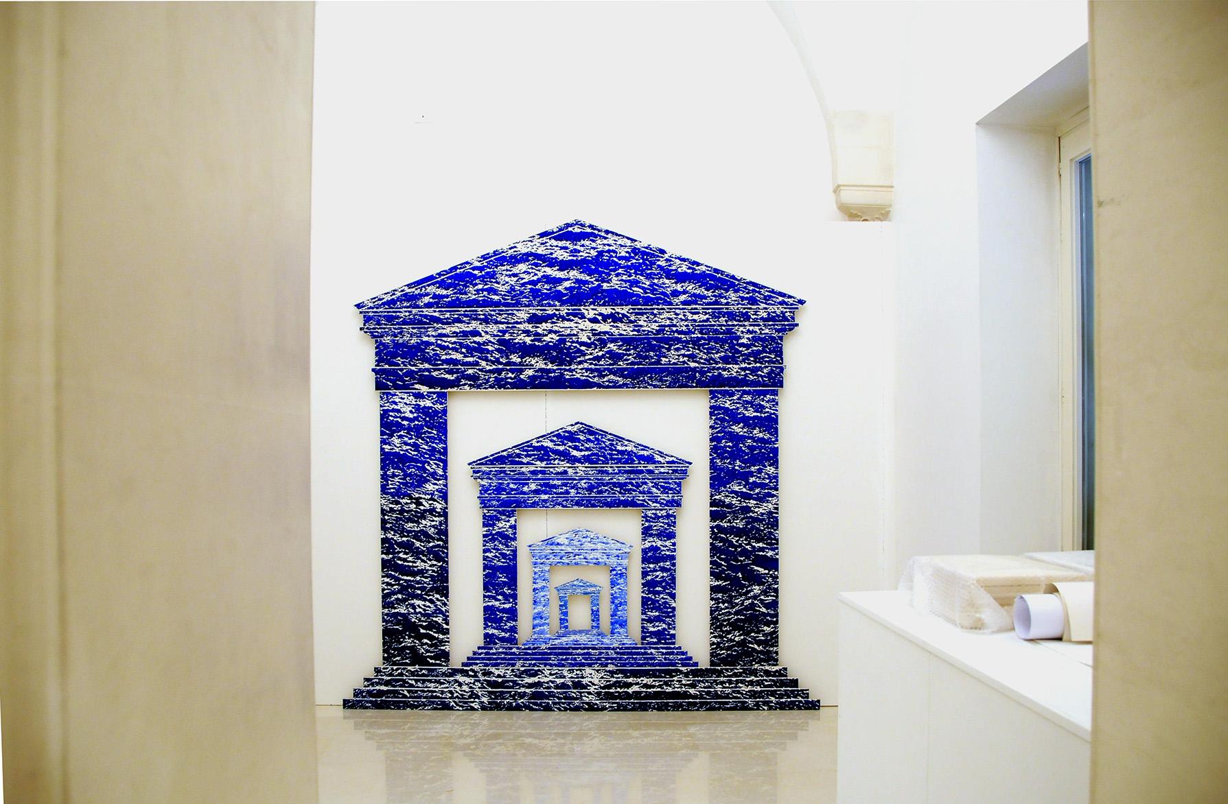 Fernando De Filippi – Le geometrie del fuoco – installation view at Fondazione Noesi, Martina Franca 2016 – courtesy l'artista