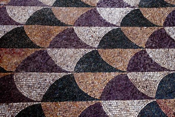 I mosaici della palestra di Caracalla restaurati a Roma