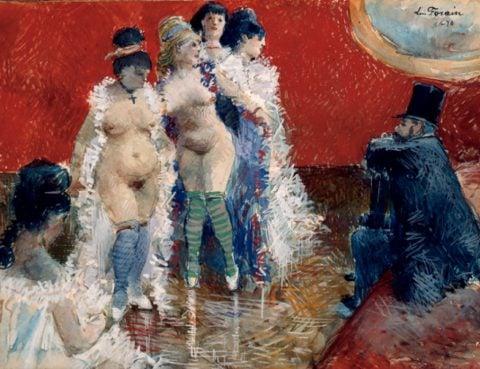 Jean-Louis Forain, Le client, 1878, Dixon Gallery and Gardens, Memphis
