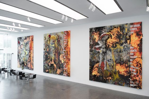 Korakrit Arunanondchai, History Painting (Poetry Floor 1, 2, 3), 2016 – courtesy of the artist & C L E A R I N G, New York-Brussels – installation view at Museion Passage, Bolzano 2016 – photo Luca Meneghel