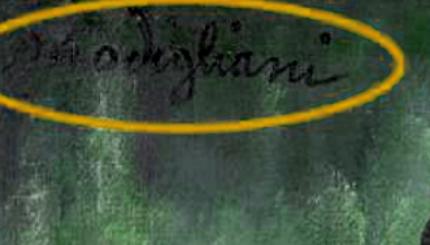 La presunta firma di Modì