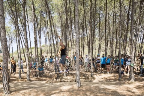 Landworks Sardinia - Pedro Cmarena Berruecos, 4 Elements + 12 Monkeys - opening - photo Filippo Romano