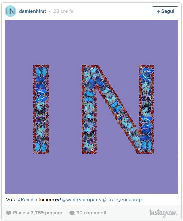 Le farfalle di Damien Hirst contro la Brexit