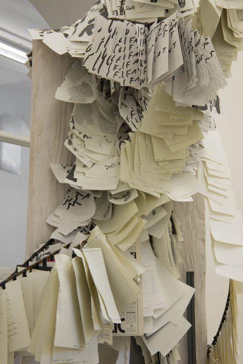 Michael Dean - Stamen Papers - installation view at Fondazione Giuliani, Roma 2016 - photo Giorgio Benni