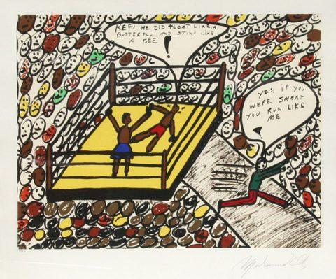 Muhammad Ali, Sting Like a Bee (1979, courtesy  Ro Gallery)