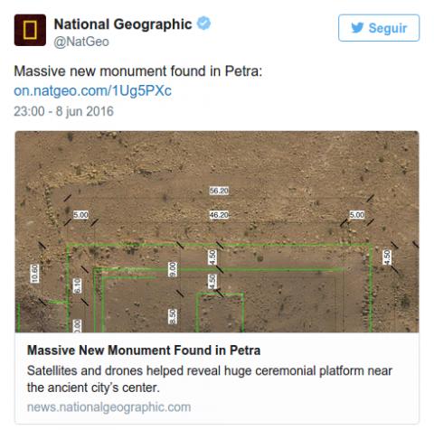 L'annuncio della scoperta in un tweet del National Geographic