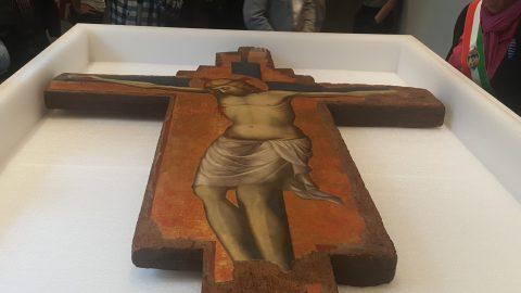Operazioni di imballaggio del Crocefisso di Jesolo, Gallerie dell'Accademia, Venezia 2016