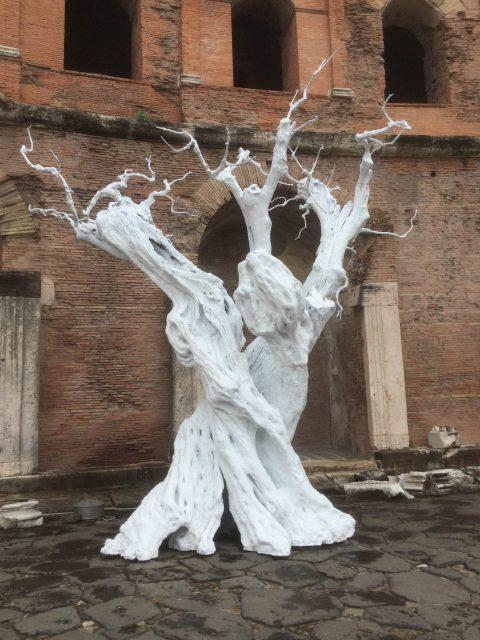 Ugo Rondinone – notti d'argento – installation view at Mercati di Traiano, Roma 2016