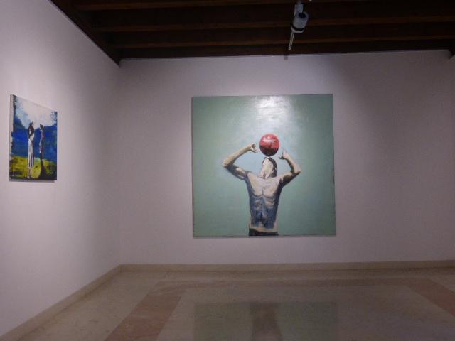 Zanbagh Lotfi - Paolo Maggis – Visioni Ritrovate – installation view at Marcorossi Artecontemporanea, Verona 2016 – photo Francesco Sandroni